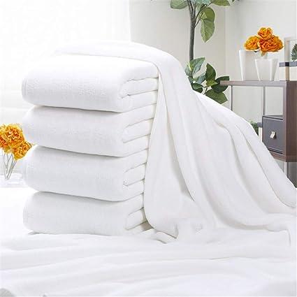 Lxryxx Hotel Toalla de baño de algodón Toalla Blanca Engrosamiento Toalla de baño Grande Viaje Secado