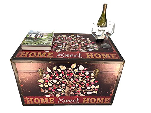 (Styled Shopping Sweet Home Large Wood Storage Trunk Wooden Chest)