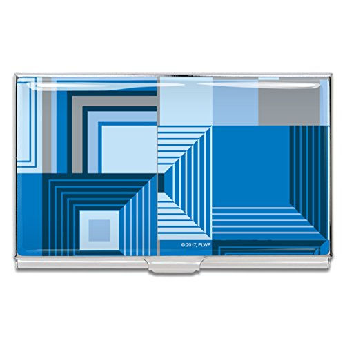 Acme Business Card Case - Acme Studios Biltmore Blue Business Card Case by Frank Lloyd Wright