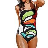 Letdown Hot Sale Women Girls Women's Backless Splice Print One Piece Swimsuit