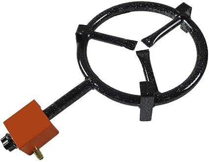 GARCIMA 200 Paellero Gas Butano 200 mm, Negro, 20 cm