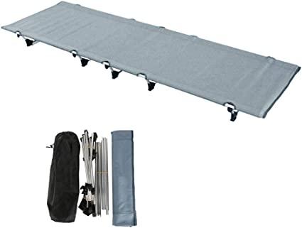 Heavy Duty Single Folding Bed Outdoor Camping Travel Portable Lightweight Bag