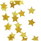 Misscrafts Star Paper Garland Whaline Bunting Banner 4Pack 16m Long Hanging Decoration for Wedding Holiday Party Birthday