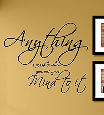 Amazoncom Anything Is Possible When You Put Your Mind To It Vinyl