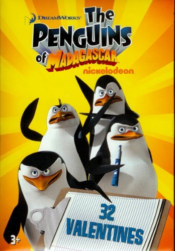The Penguins of Madagascar Valentine Cards for Kids by Paper Magic