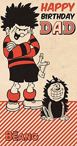 Amazon Beano Dennis The Menace Dad Birthday Card Office Products
