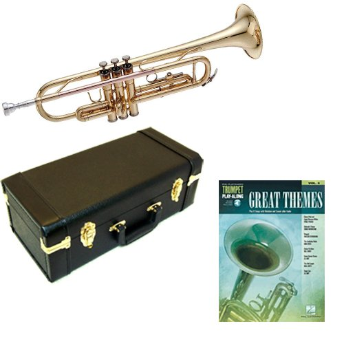 Great Themes Bb Student Trumpet Pack - Includes Trumpet w/Case & Accessories & Great Themes Play Along Book ()
