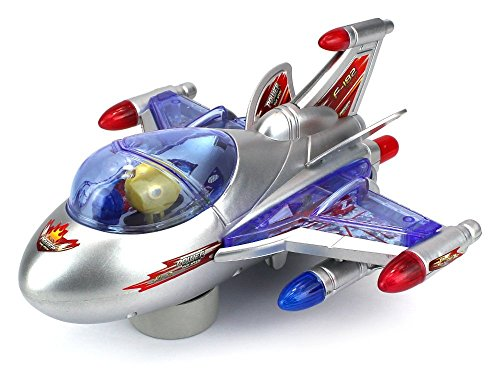 Haktoys ATS Battery Operated Bump & Go Action F-182 Fighter Jet 8