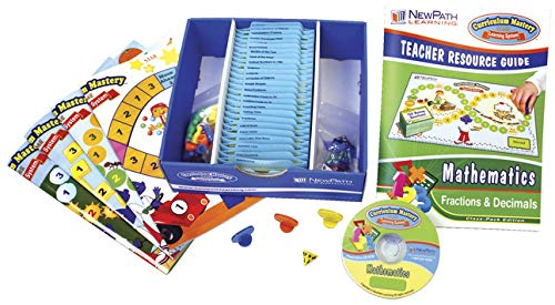 NewPath Learning Fractions and Decimals Curriculum Mastery Game, Grade 3-6, Study-Group Pack