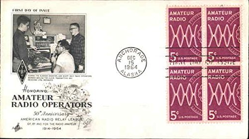 (Honoring Amateur Radio Operators Block of Stamps Original First Day Cover)