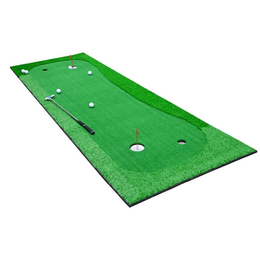 高い伸縮性がある裏付けのゴム製足底が付いている携帯用ゴルフパッティングマットの屋内/屋外のグリーンシステムの専門の練習のマット ゴルフ練習用 (色 : 緑, サイズ : 1.0*3m) 1.0*3m 緑 B07S7B7LTZ