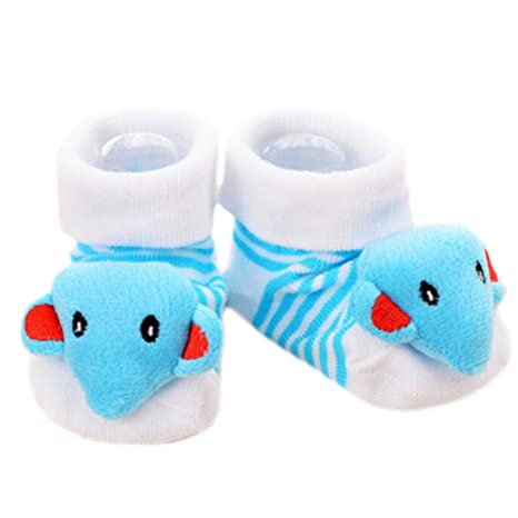 3 pares de bebé recién nacido antideslizante calcetines del niño calcetines antideslizantes calientes regalo del bebé
