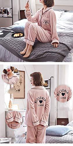 Fleece E Coral Ropa Servicio Home Pareja De Engrosamiento El Money Mmings Modelos Otoño Hogar Hombres Traje Para Invierno Los Franela Pijamas Casual Male Mujer Wzw1qOPq8x