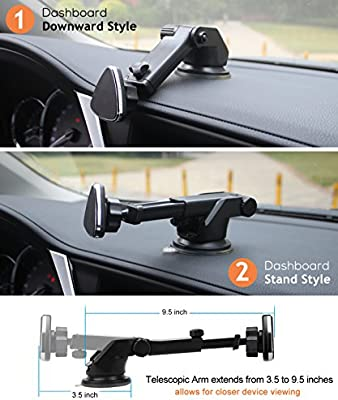360° Magnetic Mount Car Windshield Dashboard Holder Stand For Mobile Cell Phone