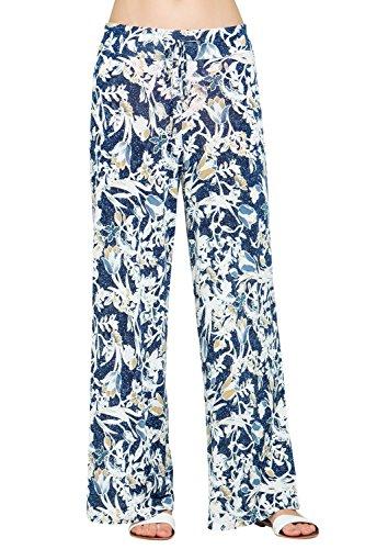 281b3b35c48328 Cody Line Women Print High Drawstring Waist Wide Leg Palazzo Pants Plus Size