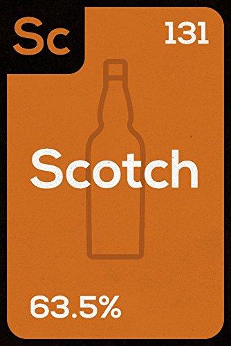Periodic Drinks - Scotch (24x36 Fine Art Giclee Gallery Print, Home Wall Decor Artwork Poster)