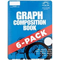 6 Pack Norcom 4x4 Quad Graphing Composition Book