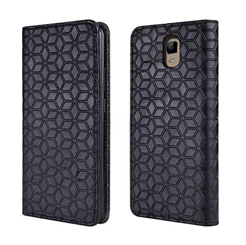 Oukitel ok6000 Plus Case, [Kickstand] [Card Slot+Side Pocket] Premium Soft PU Color Matching Leather Wallet Cover Flip Case Protective Case for Oukitel ok6000 Plus (Black)