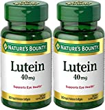 Nature's Bounty Lutein Dietary Supplement Softgels, 40mg, 30 count (2 Pack)