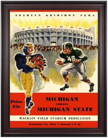 Amazon.com: 1948 Michigan State Spartans vs. Michigan Wolverines ...