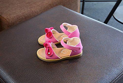 Scothen Niñas strappy sandalias zapatos de verano zapatos casuales zapatos de las sandalias de playa sandalias sandalias romanas los niños zapatos princesa del flip-flop los zapatos la bailarina Rose Red