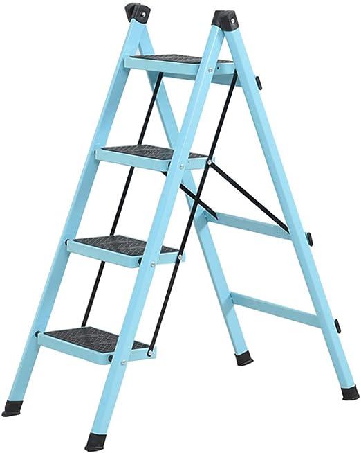 Zzmop - Escalera Plegable de 4 peldaños, Escalera con Forma de A, Escalera de Acero Resistente, Escalera de Escalera Ligera, portátil, Escalera con Soporte, 120 kg: Amazon.es: Juguetes y juegos