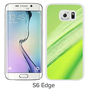 New Beautiful Custom Designed Cover Case For Samsung Galaxy S6 Edge With Pure Clean Green Leaf Macro (2) Phone Case