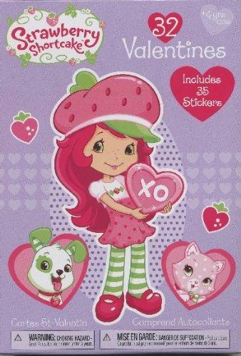 Amazoncom Strawberry Shortcake 32 Valentines Valentine Cards