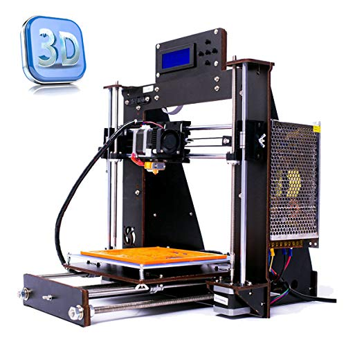 Perfect-Office New DIY Printer i3 MK8 High Precision Self-Assembling Nozzle Desktop DIY 3D Printers with Free 1.75mm ABS/PLA Printer Filament,Print Size (200X200X180mm) (New-I3)