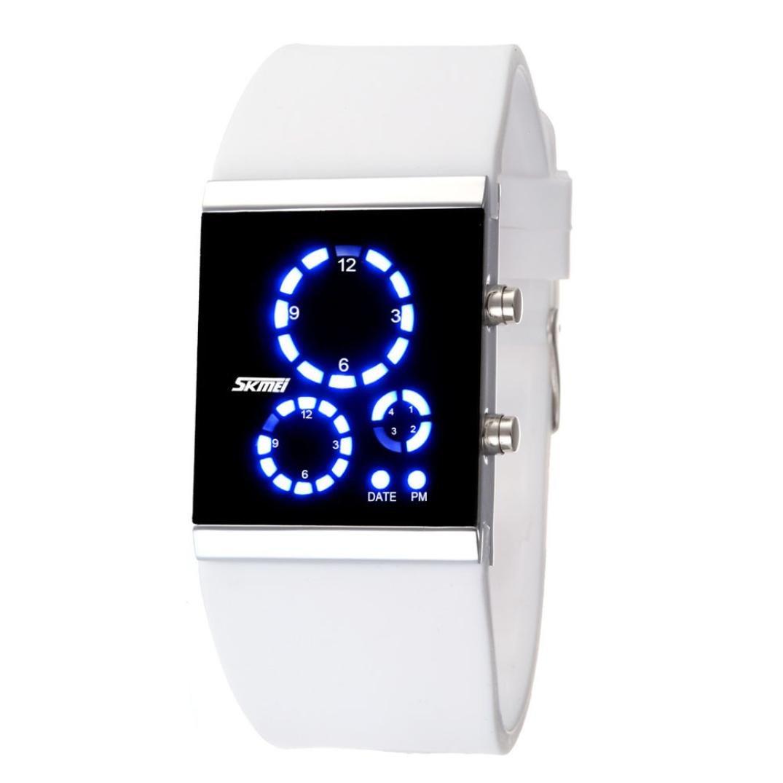 スポーツ腕時計、ikevan Skmei Couple防水時計デジタルLED腕時計 Length: 240mm ホワイト ホワイト ホワイト B076LM8DKW