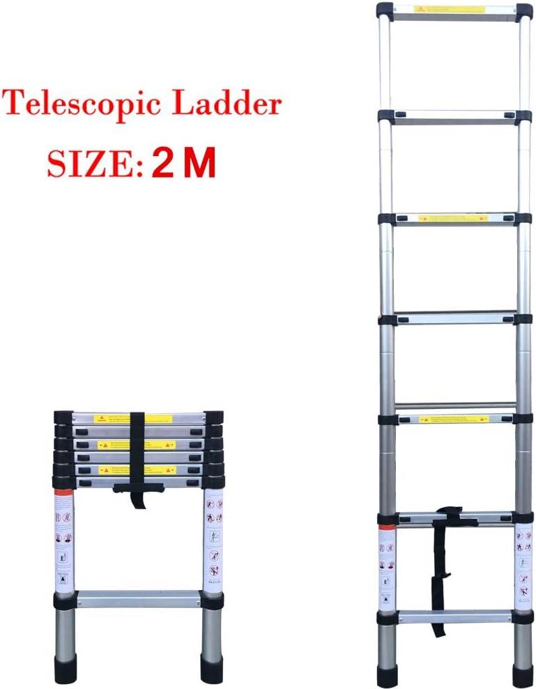 KKmoon 6.56FT (2m / 2.6m / 3.2m) Escalera de aleación de aluminio plegable de cAluminium 7/9/11 Pasos Escaleras de extensión Telescópica Extensible 150 kg Peso del oso con mecanismos: Amazon.es: Bricolaje y herramientas