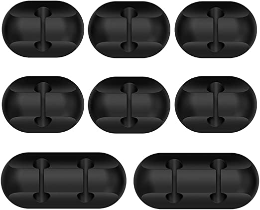 Amazon.com: 8 Pack Cable Clips, Aoviho Cable Organizer Cord Management Home Office Cable Clip Desk Self Adhesive Wire PC Clips for USB Charging Cable Computer Cable etc (Black): Home Audio & Theater