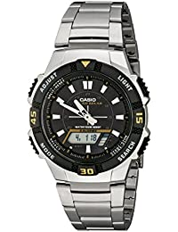 Men's AQS800WD-1EV Slim Solar Multi-Function...