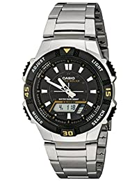 Casio Men's AQS800WD-1EV Slim Solar Multi-Function Analog-Digital Watch