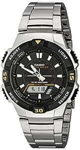Casio Men's AQS800WD-1EV Slim Solar Multi-Function Analog-Digital Watch