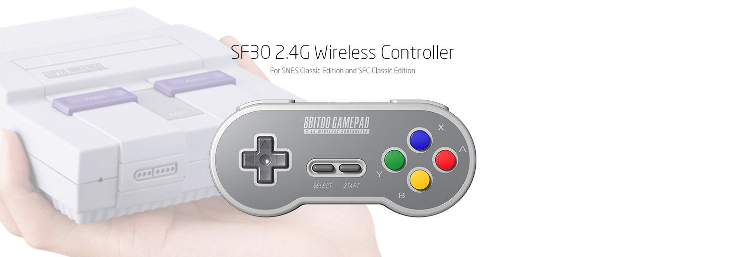 8Bitdo SF30 2.4G Wireless Controller for SFC Classic Edition by 8Bitdo (Image #2)