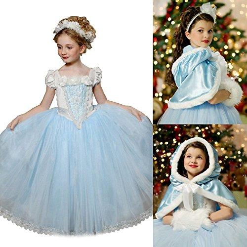 UK1stChoice-Zone Gute Qualität Neueste Design Mädchen Prinzessin Kleid Verrücktes Kleid Partei Kostüm Outfit DE*FBA-CNDR (3-4 years, DRESS-CNDR)