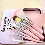 CJB 7 Pcs Professional Pink Hello Kitty Soft Makeup Brush Set with Box (US Seller)