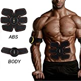 [New Version 2017] Abdominal Toning Belt, Waist Trimmer Belt, ABS Toner Body Muscle Trainer, Abs Fit Training, Unisex Fitness Training Gear, Home Fitness Training Gear (machine&pad)