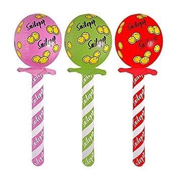 aufblasbar Lollipop 72cm Kinder Spaß Party Neuheit Zubehör Farben ...