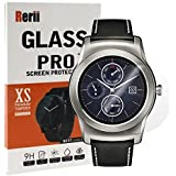 LG G Watch Urbane Screen Protector, Rerii [ 2-Pack] Tempered Glass Screen Protector for LG G Watch Urbane 1st Generation W150, 9H Hardness, 0.3mm Thickness, Real Glass Screen Protector