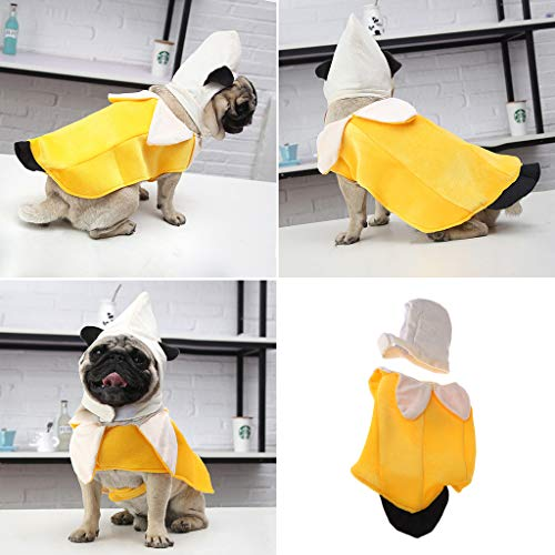 GMSP Pet Funny Halloween Cosplay Costume Banana, Clothing for Dog Cat Apparel Mascot. -