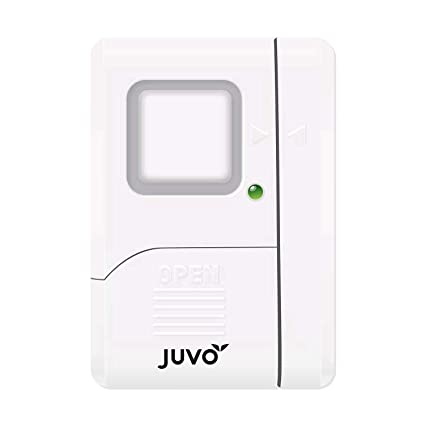 SENIOR WORLD Plastic Juvo Door/Window Wireless Safety Alarm with Extremely Loud 105 DB Siren to Alert People and Scare/Deter Intruders (White)