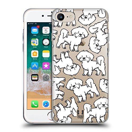 Head Case Designs Maltese Dog Breed Patterns 4 Soft Gel Case for iPhone 7 / iPhone 8
