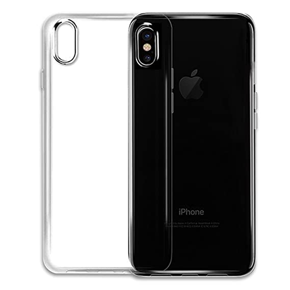 wholesale dealer 04d30 660ac iPhone X Clear Case Waterproof PU Rubber Clear Back Soft Silicone