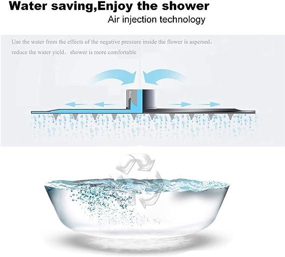 WYYSYNXB 6 Inch Fixed Shower Head Rainfall Swivel Ball Fixed Mount ABS Chrome Round Bathroom Accessories