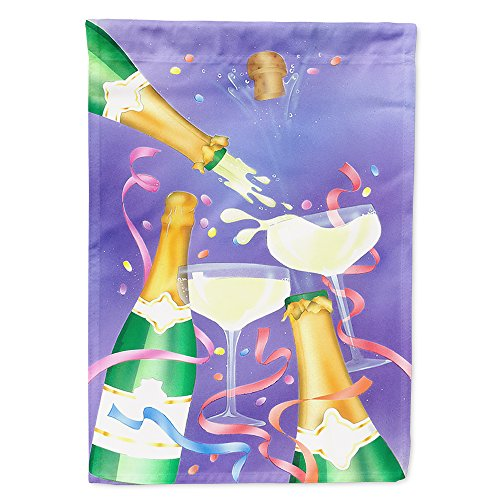 (Caroline's Treasures APH8555CHF Celebrate New Years Toast Flag Canvas House, Large, Multicolor )