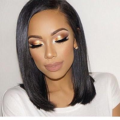 "14""Bob Wigs Short Straight Wig Synthetic Heat Resistant Fiber Hair For Black Women By Jo Bryan"