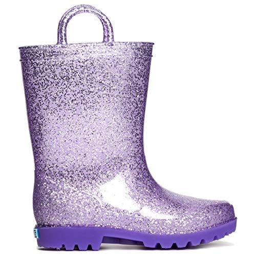 ZOOGS Kids Glitter Rain Boots for Girls, Boys,