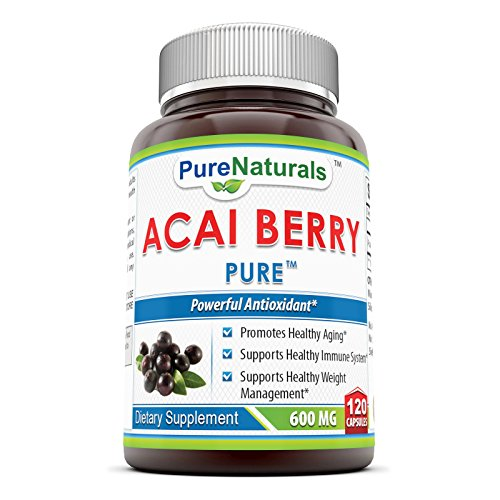 Pure Naturals Dietary Supplement, 600 Mg, Acai Berry, 120 Count